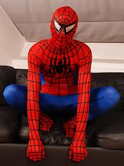 Dick Smolderingly Hot Threesome As Spiderman Fucks & Creams Two Horny Twinks